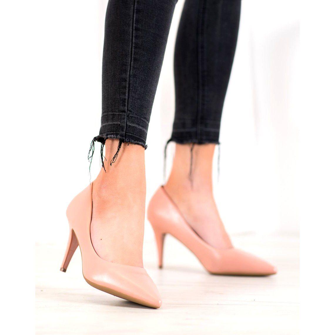 Shelovet Eleganckie Szpilki Z Eko Skory Rozowe Stiletto Heels Stiletto Heels