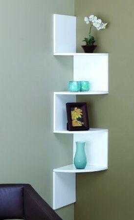 Amazon Nexxt FN01460 4 Provo Series White Corner Mounted Accent Shelf Home Kitchen