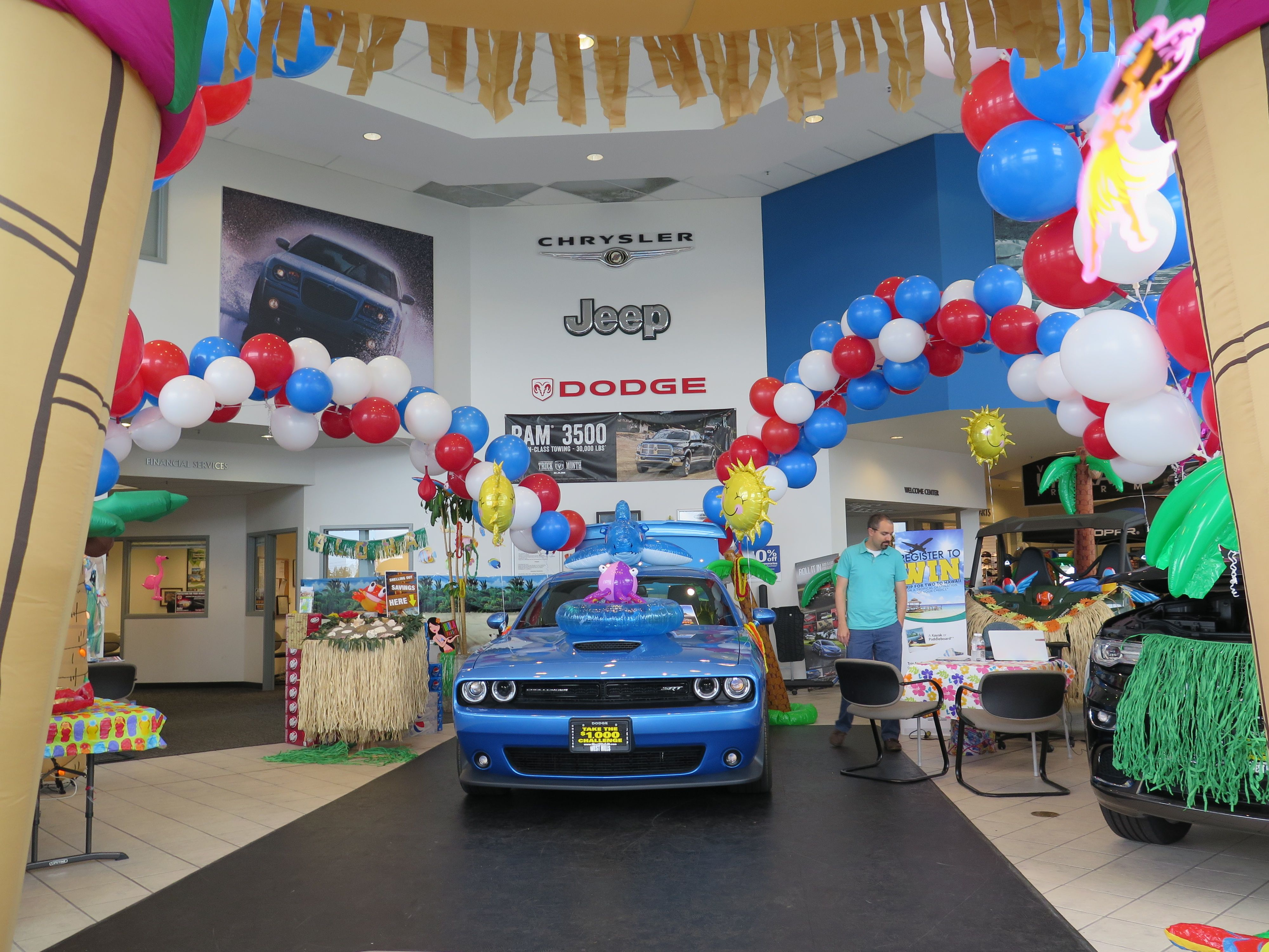 Beach Party At West Hills Chrysler, Jeep, Dodge In Bremerton, Wash.