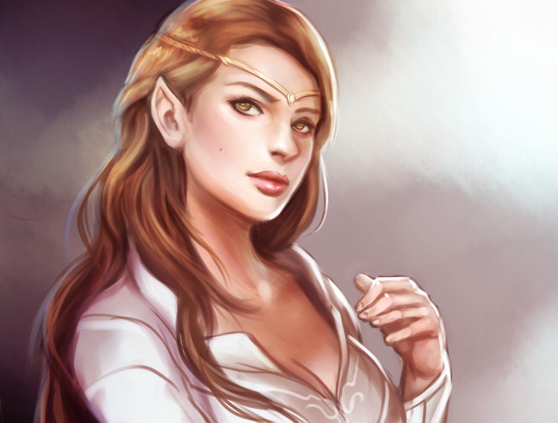 Fantasy Elf Woman Girl Long Hair Brown Hair Hazel Eyes Wallpaper Brown Hair And Hazel Eyes Long Hair Girl Brown Hair Brown Eyes