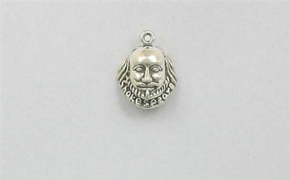 925 Sterling Silver Shakespeare Charm Made in USA