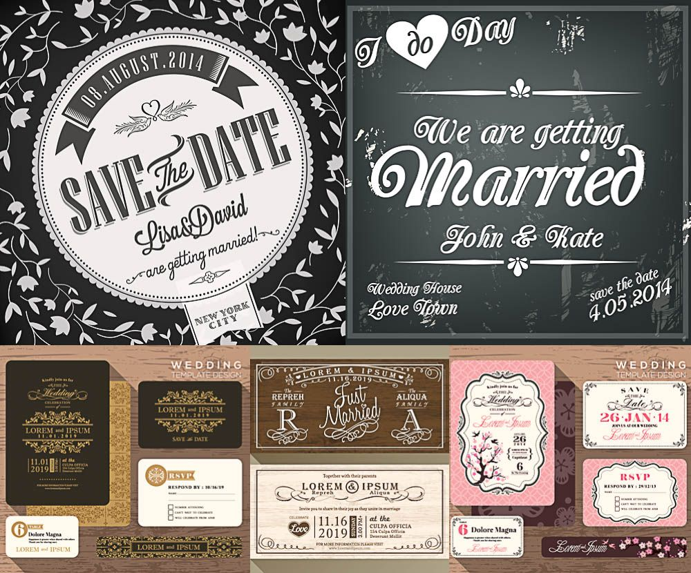 Wedding invitations templates vector free for download and ready for wedding invitations templates vector free for download and ready for print over 10000 graphic stopboris Gallery