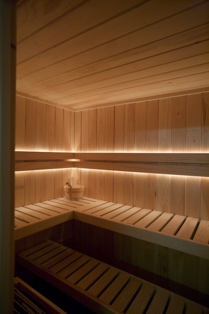 Rope Lighting In Small Sections Is A Cool Idea Sauna
