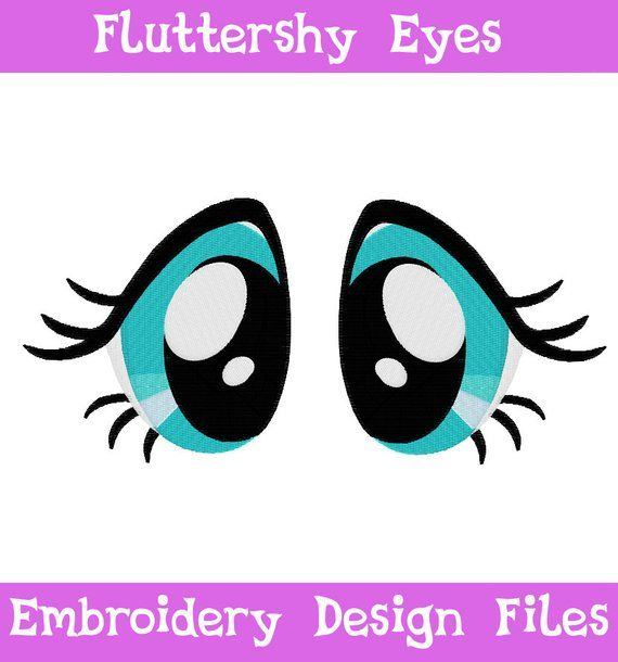 Pes Files Fluttershy Eyes Machine Embroidery Design Pattern Mlp