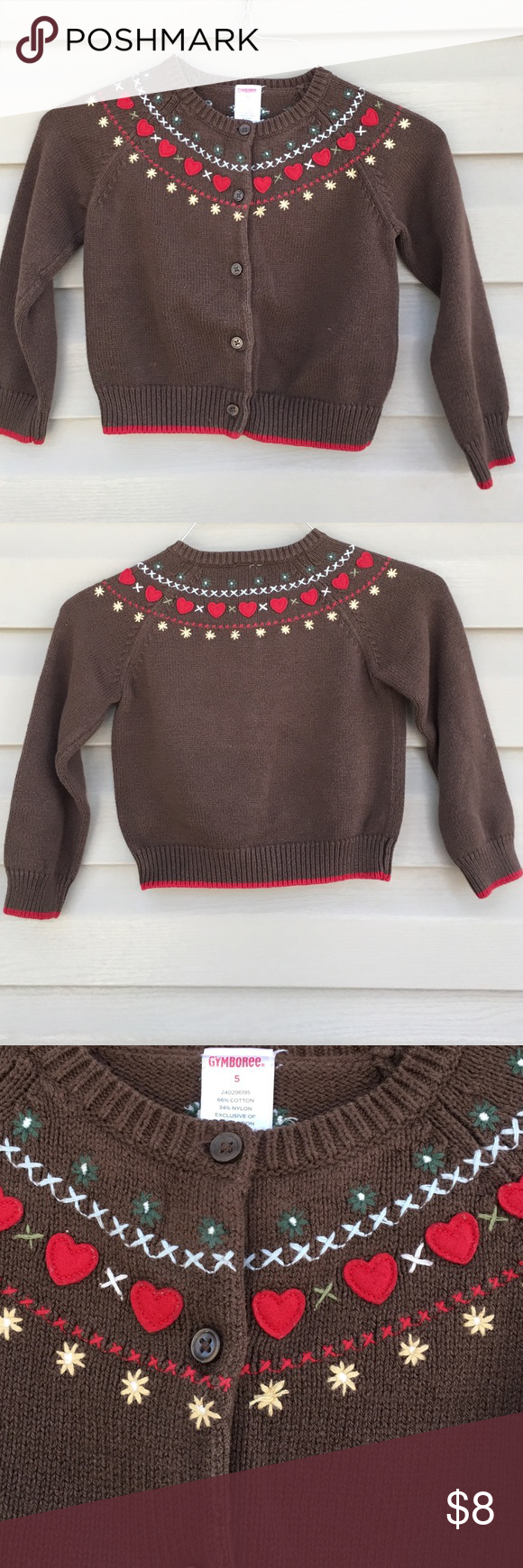 Gymboree girls sweater | Gymboree, Brown and Cotton
