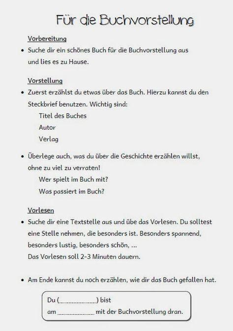 grundschule material kostenlos arbeitsbl tter unterricht deutsch buchvorstellung grundschule. Black Bedroom Furniture Sets. Home Design Ideas