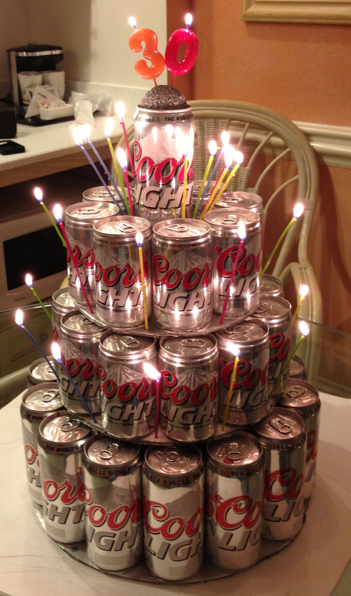 Coors Light Beer Can Cake