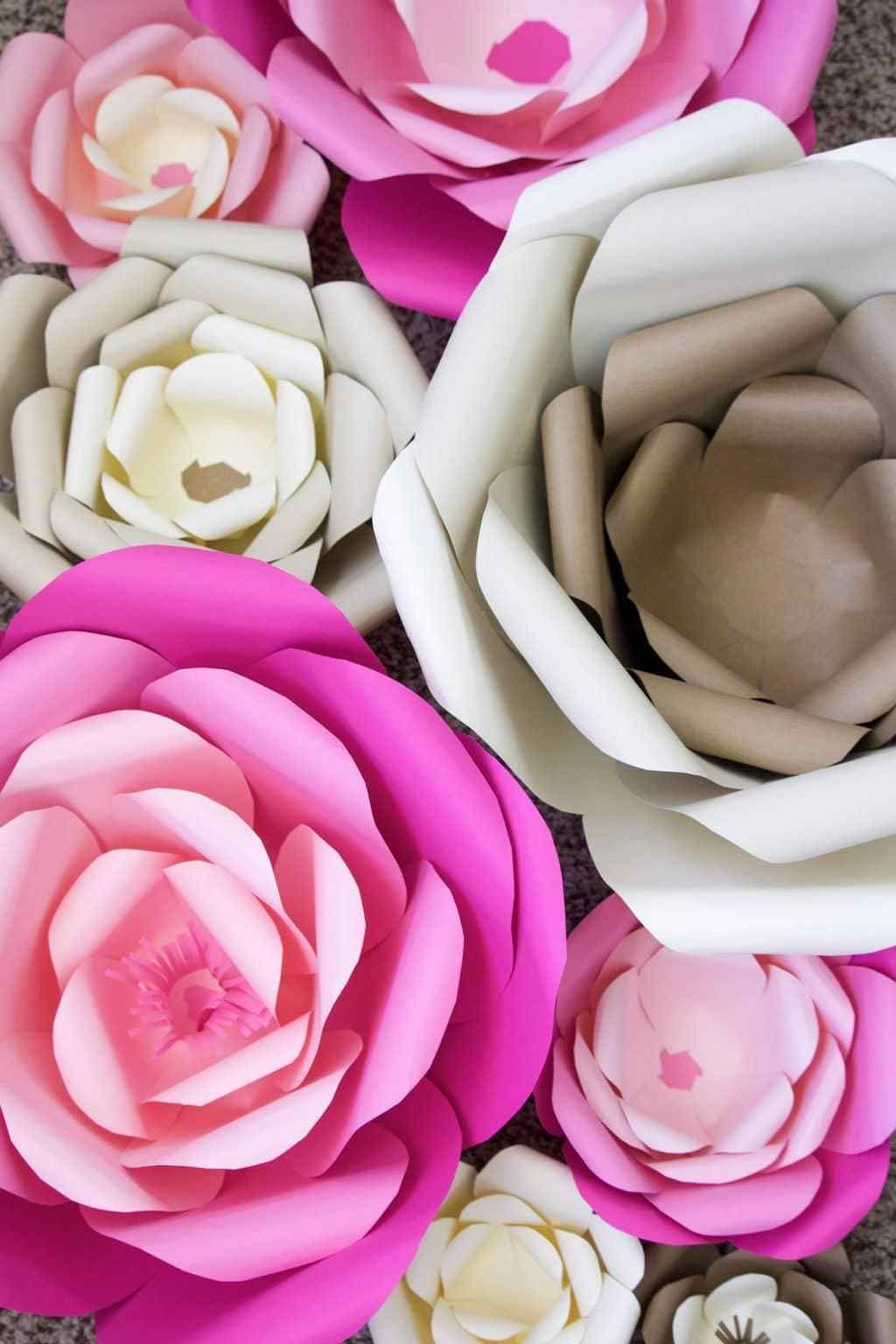 How To Make Large Paper Flowers Ama Pinterest Large Paper
