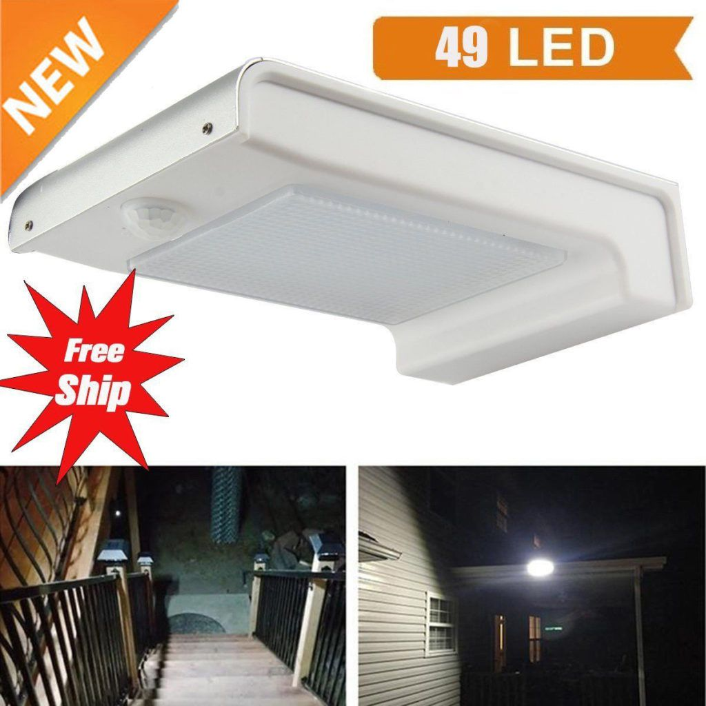 Waterproof Led Solar Power Pir Motion Sensor Wall Light Outdoor Yard Garden Lamp Ebay Sensor Lights Outdoor Solar Wall Lights Outdoor Wall Lighting