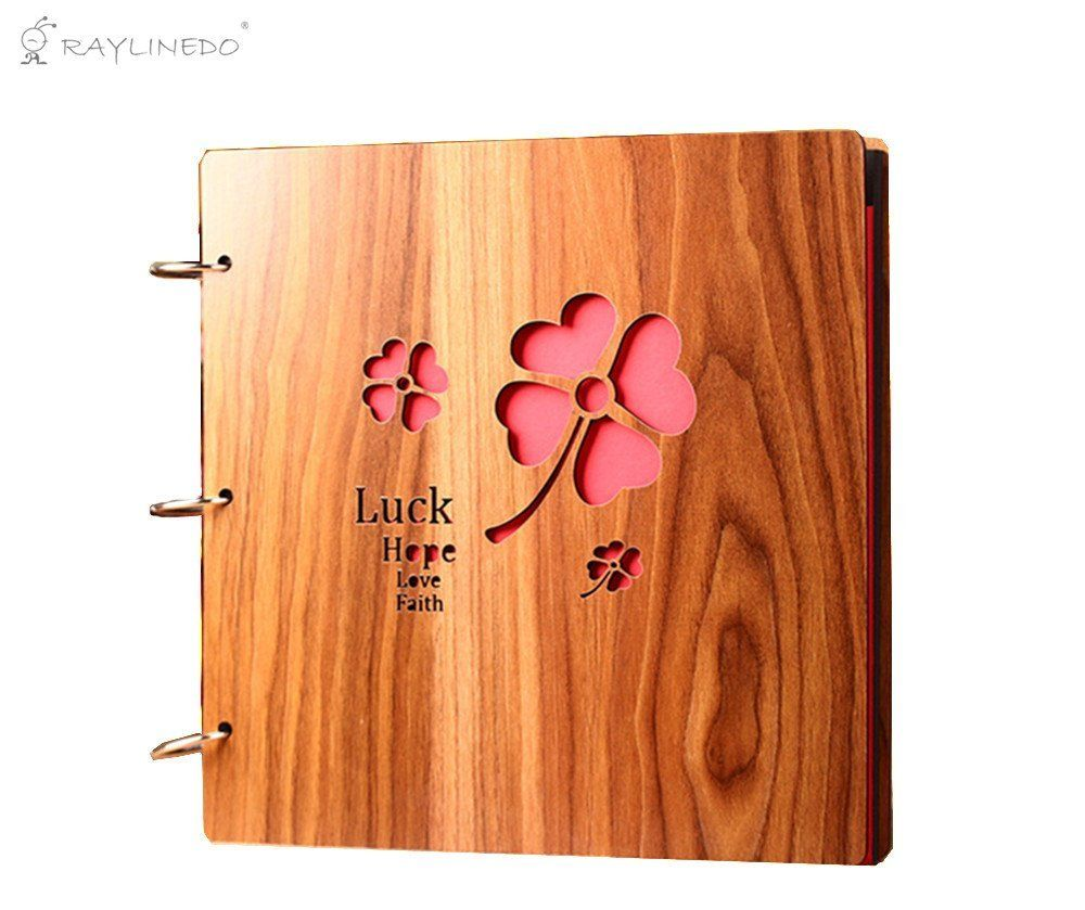 Raylinedo u quality wooden covered carving personalized diy photo