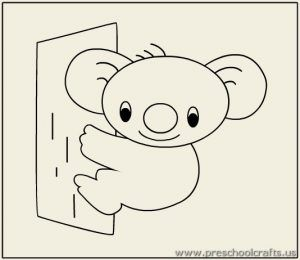 Koala Coloring Pages For Preschool Preschool And Kindergarten Bear Coloring Pages Coloring Pages Detailed Coloring Pages