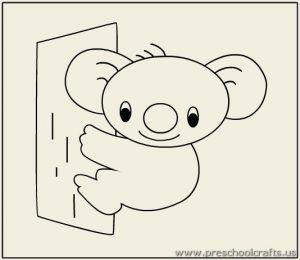 Koala Coloring Pages For Preschool Preschool And Kindergarten