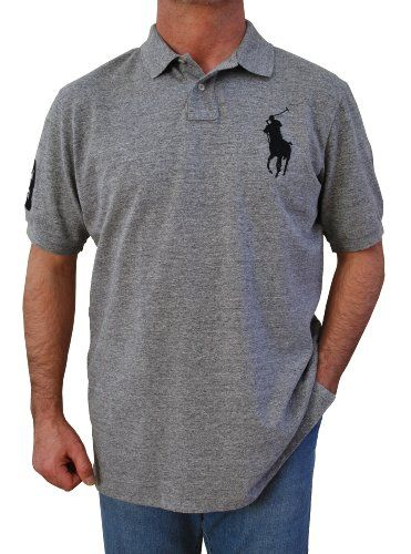 Polo Ralph Lauren Men`s Big-Tall Custom Fit Short Sleeve Big Pony Polo  Shirts (XL c9b60ae1b87c