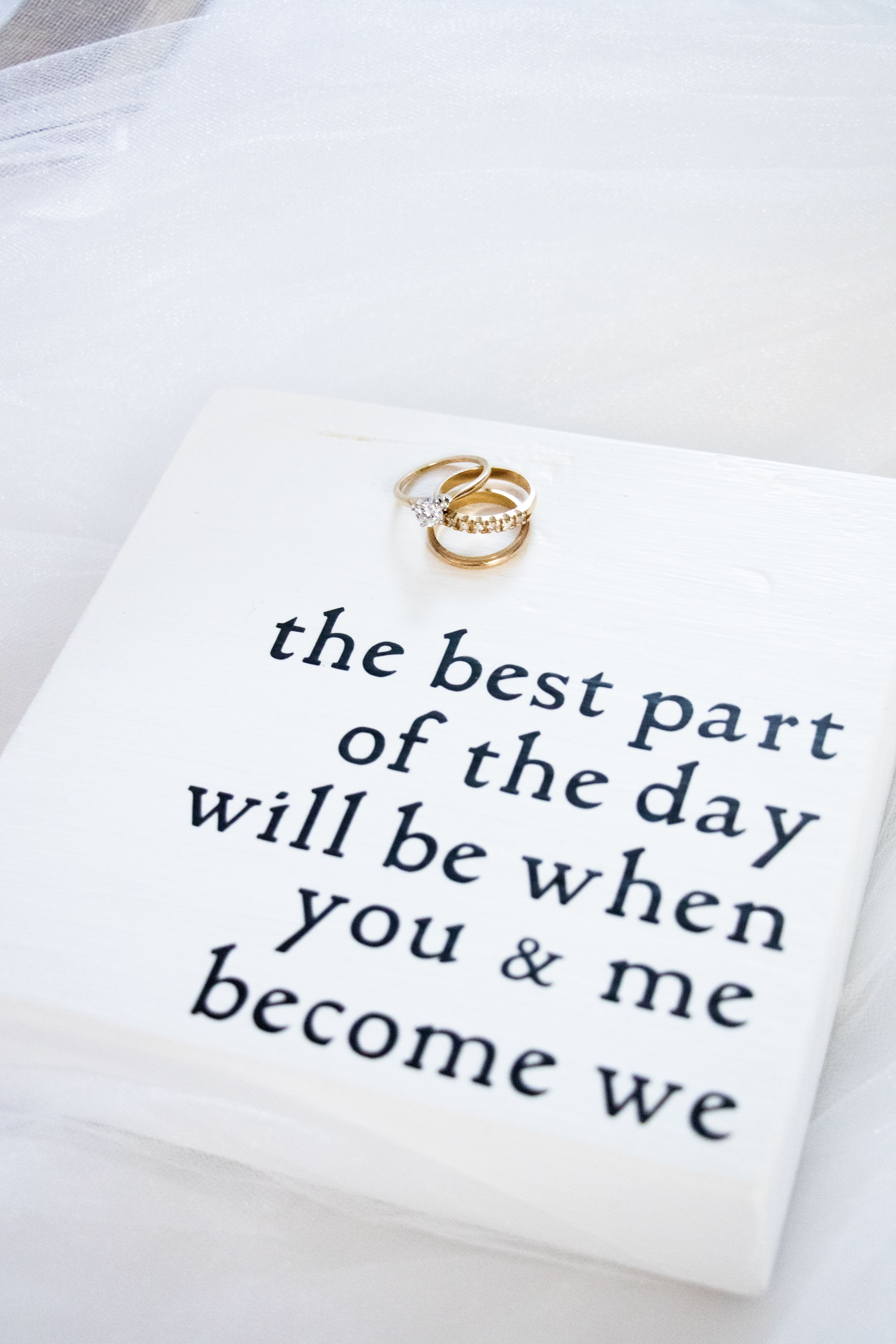 Wedding Sign: the Best Part of the day will be when you and me become we.