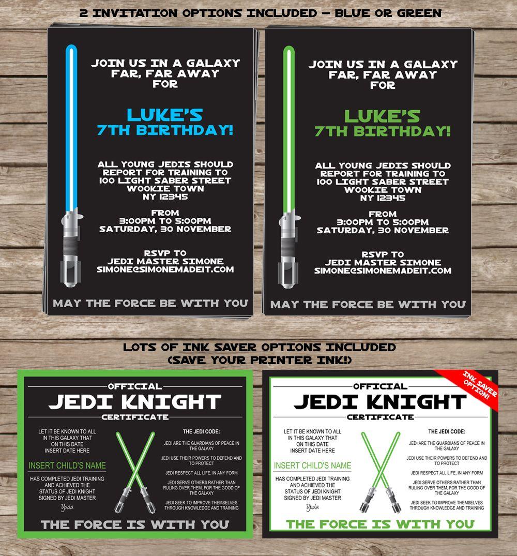 Star Wars Party Printables, Invitations & Decorations | Star wars ...