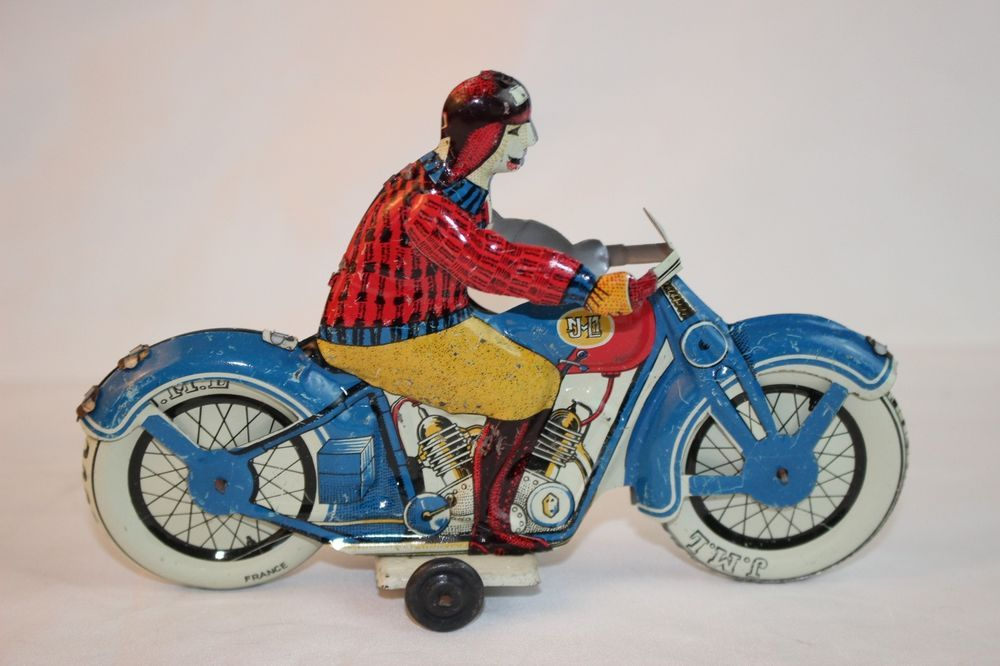 Vtg France Tin Litho Toy Jml Motorcycle