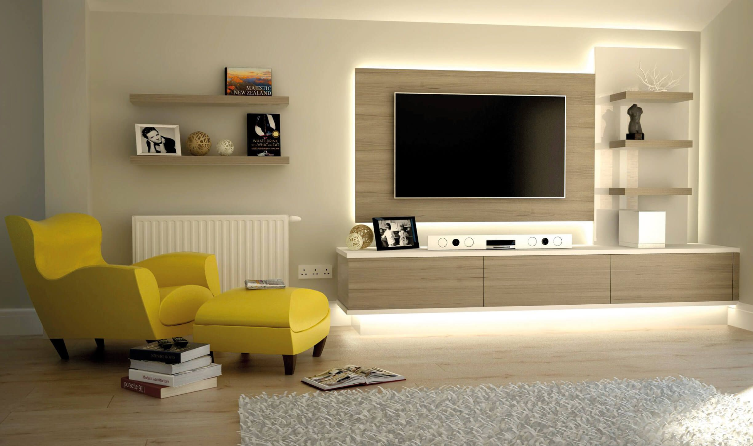 TV Room in Floor Lighting - Bespoke TV cabinets, bookcases and storage units For over Room in Floor Lighting