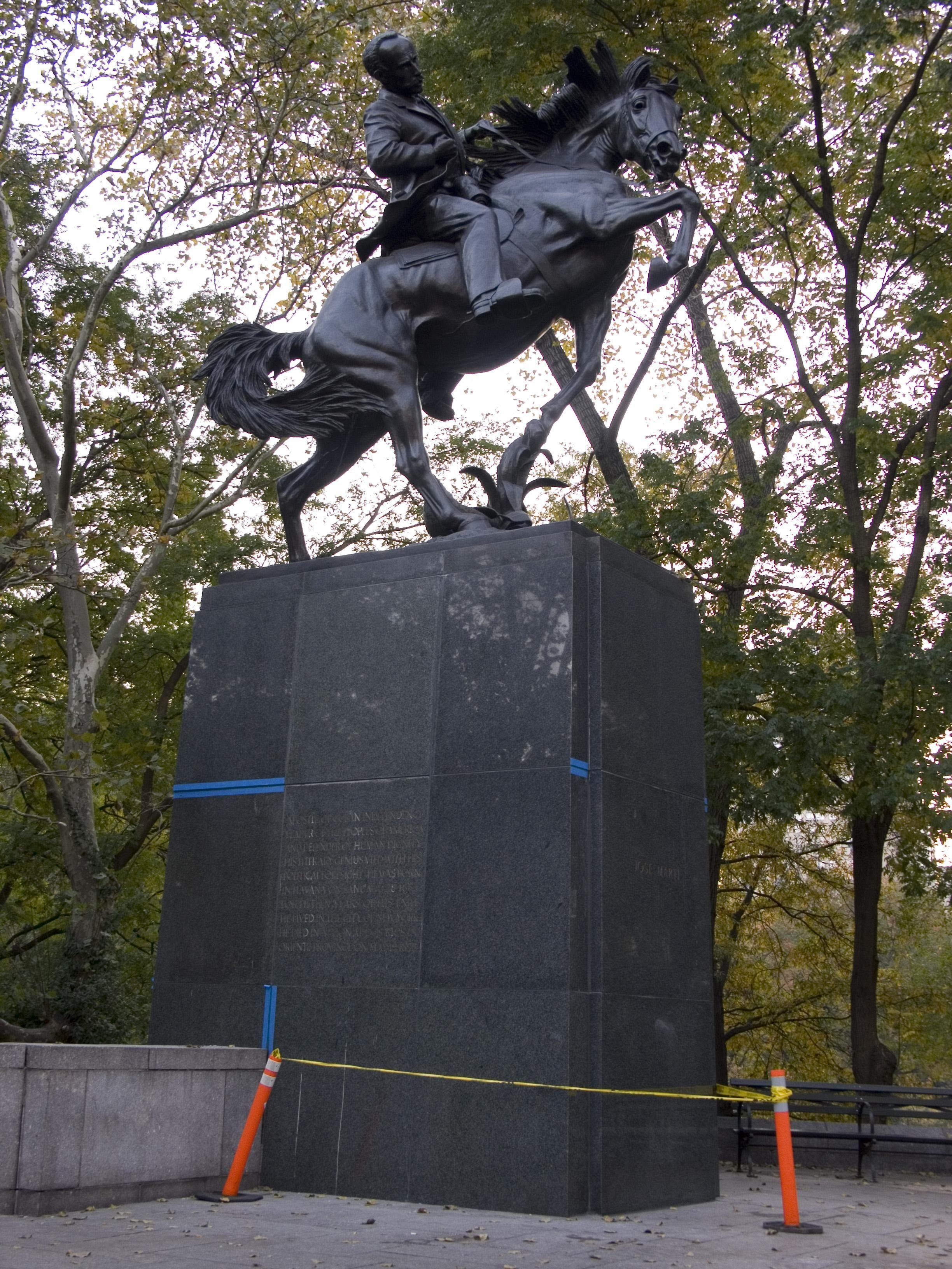 Jose Marti Monument By Anna Hyatt Huntington Central Park New York City New York Monument Equine Inspiration Equestrian Statue