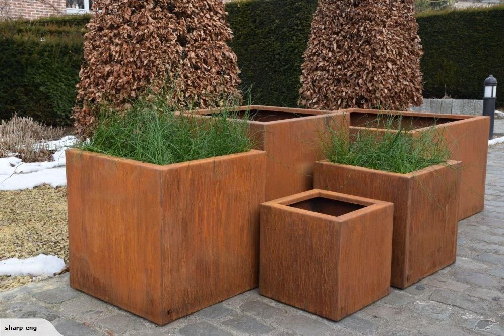 Cubic Planter corten steel in 2020 Corten steel planters