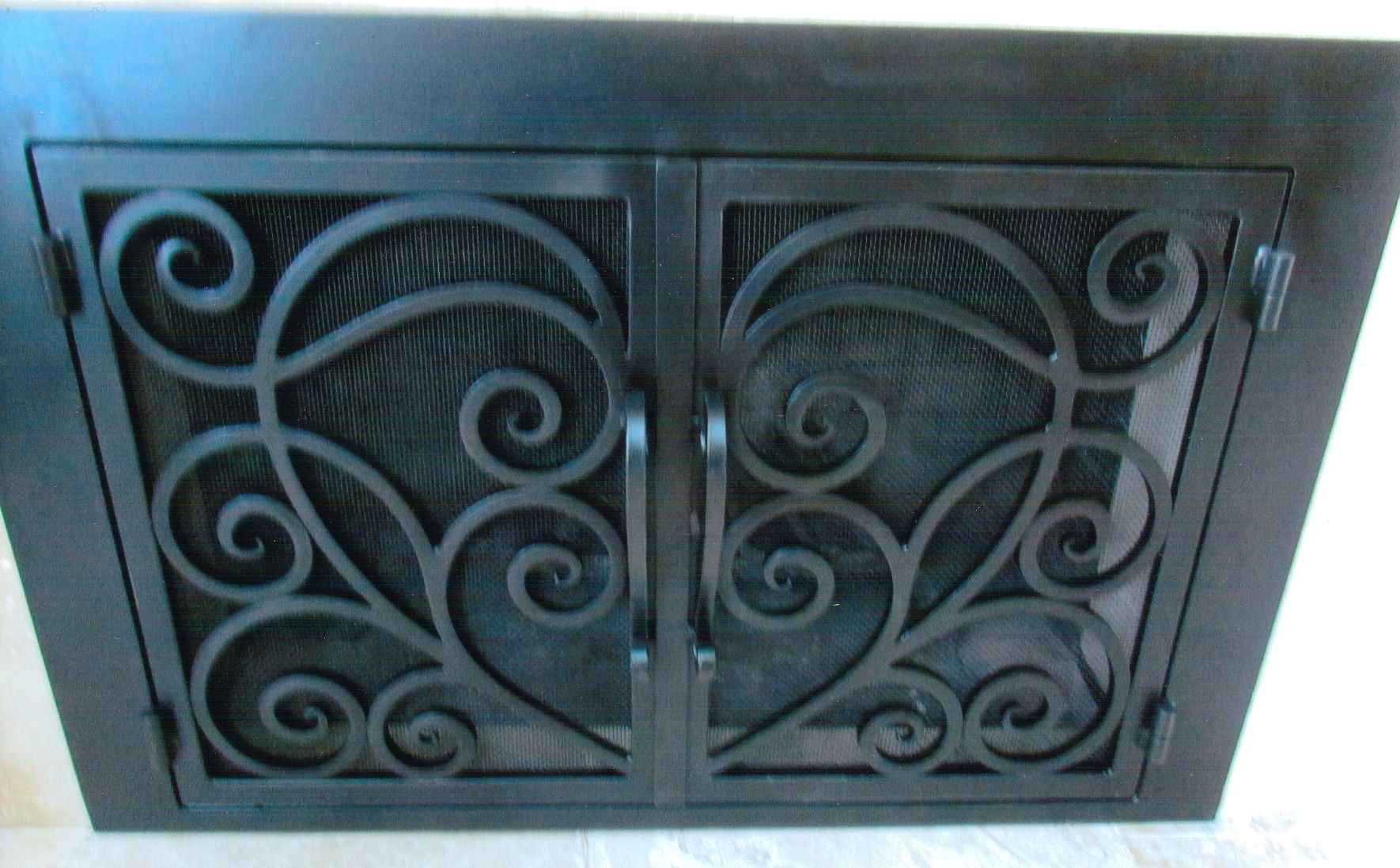Wrought Iron Fireplace Doors | Full Size Is 1770 × 1098 Pixels