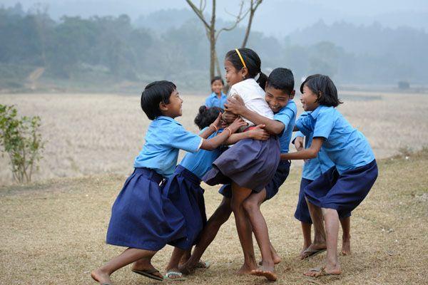 kids playing kabaddi