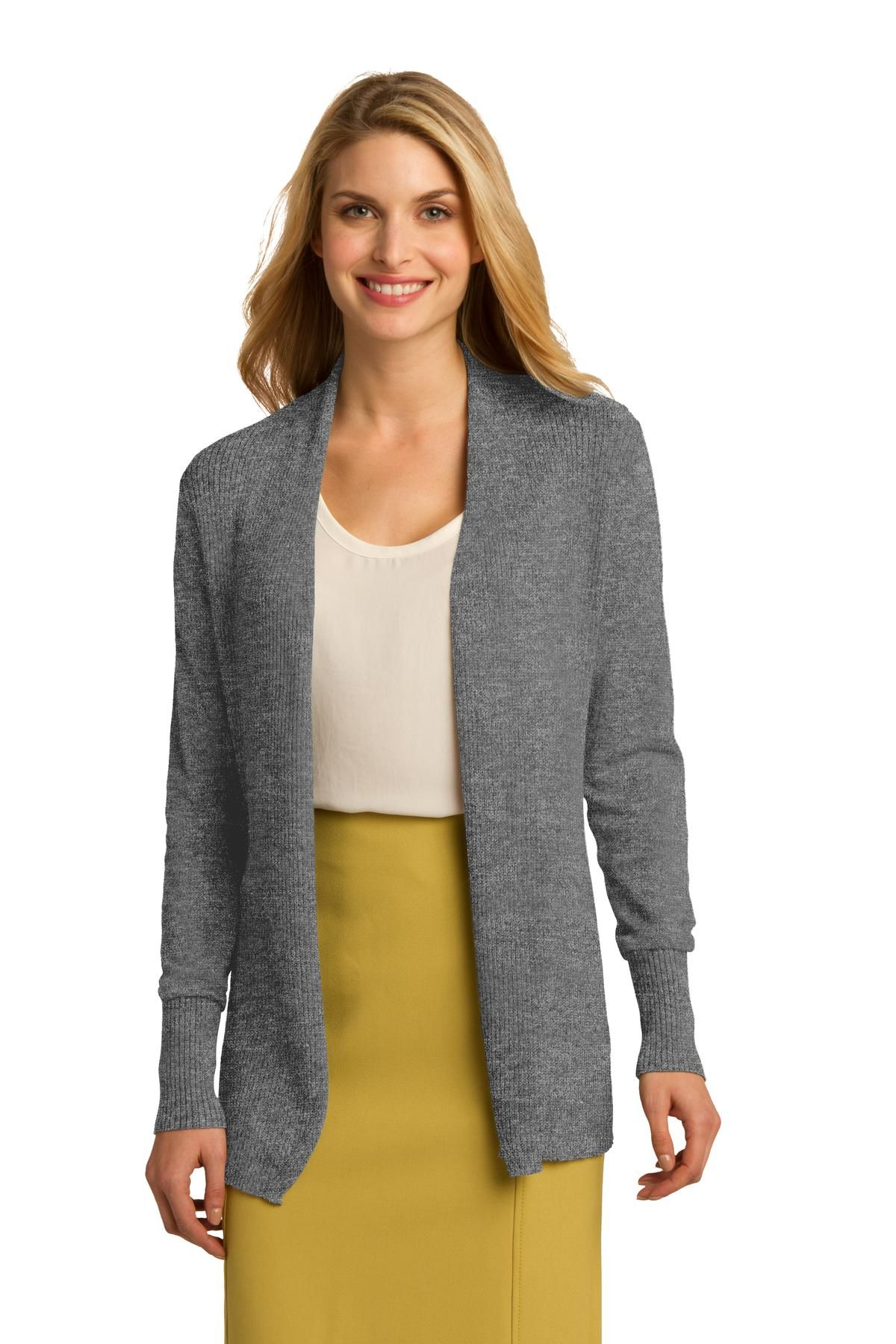Ladies Open Front Cardigan - This soft, cozy cardigan has a ...