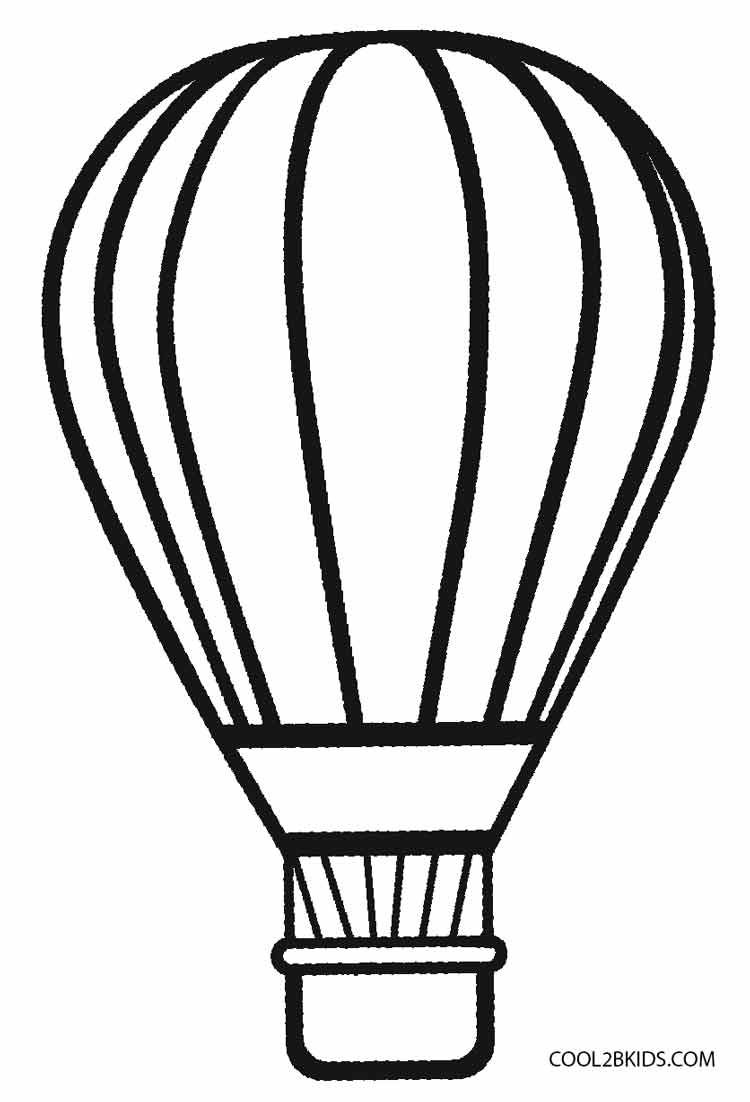 Hot Air Balloon Coloring Pages Hot Air Balloon Drawing Balloon
