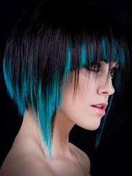 Im going to dye my hair!! Blue underneath? I love it!