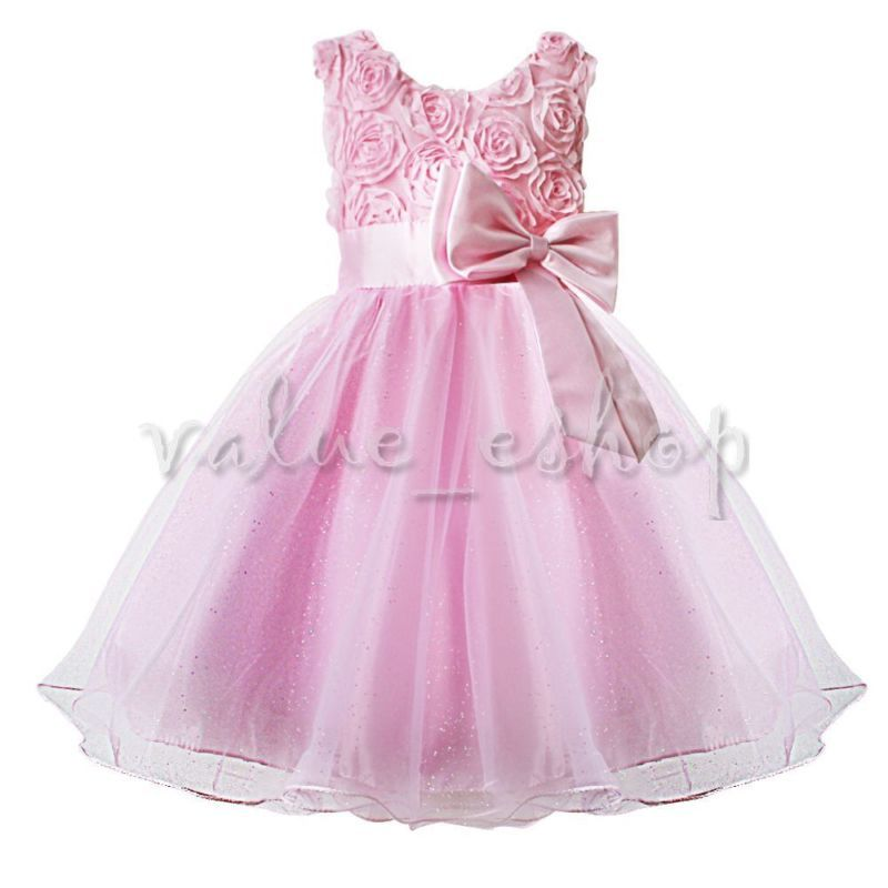 Formal Flower Girl Kid Christening Wedding Party Bridesmaid Princess ...