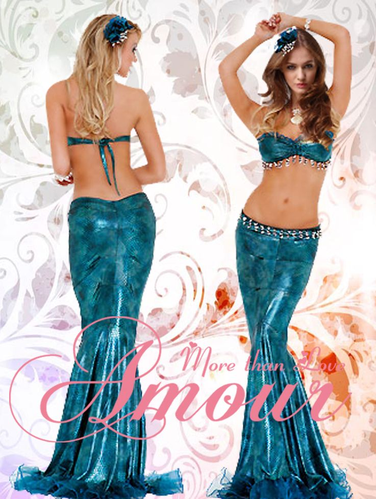 Hot Sexy Deluxe Women Adult Mermaid Costume Set Bra Top + Skirt @v81032 - for  sc 1 st  Pinterest & Hot Sexy Deluxe Women Adult Mermaid Costume Set Bra Top + Skirt ...