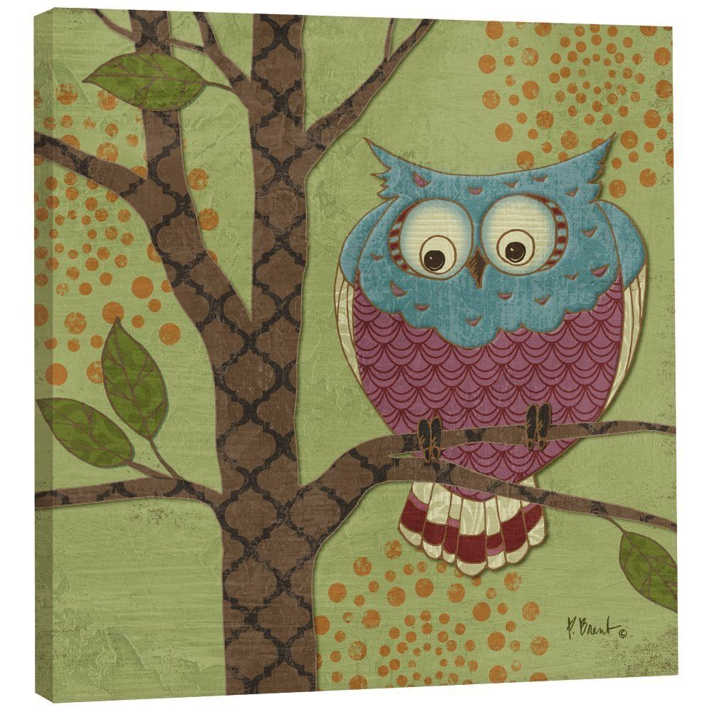 Tree free greetings ecoart home decor wall plaque 1125 x 1125 whimsical owl premium magnet exceptional artwork and craftsmanship from tree free greeting cards this is a magnet measures x square kristyandbryce Image collections