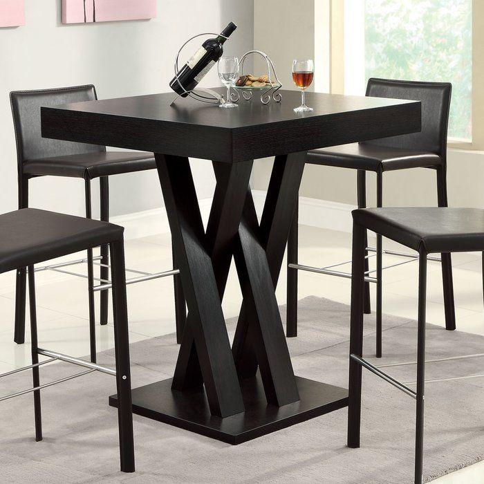 Hodder Bar Height Solid Wood Dining Table Barnye Stoly Vintazhnaya Mebel V Industrialnom Stile Nozhki Stolov