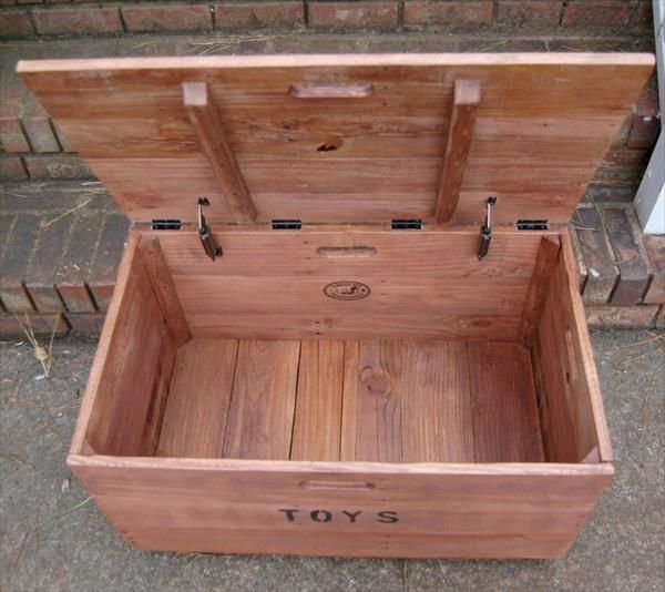 Diy Wooden Pallet Kid S Toy Chest Wooden Pallets Ideas
