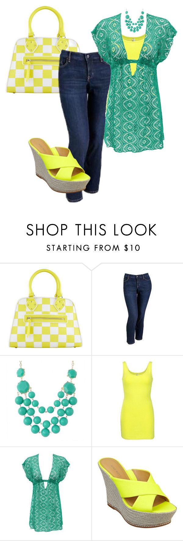 """""""plus size outfit"""" by penny-martin ❤ liked on Polyvore featuring ALDO, Old Navy, BKE and Nine West"""
