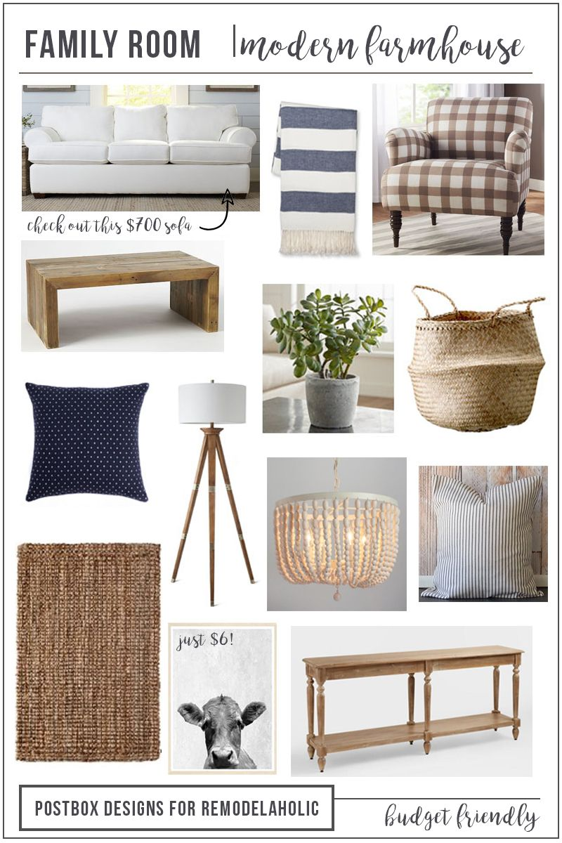Photo of Budget Friendly Modern Farmhouse Family Room Makeover