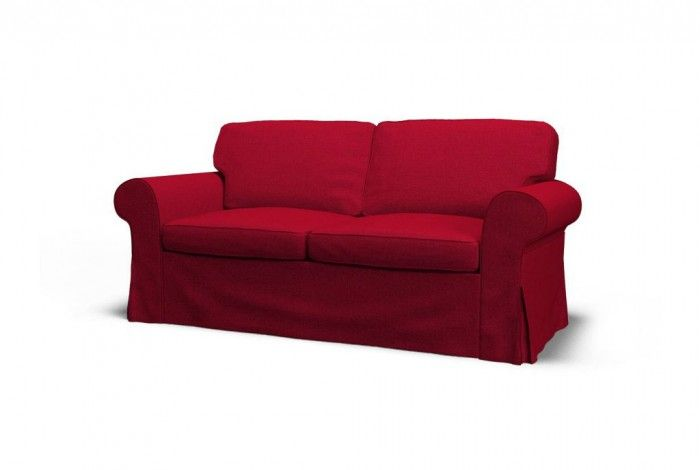 Ikea Ektorp Two Seat Sofa Slipcover Event Burgundy Wine Lake Living