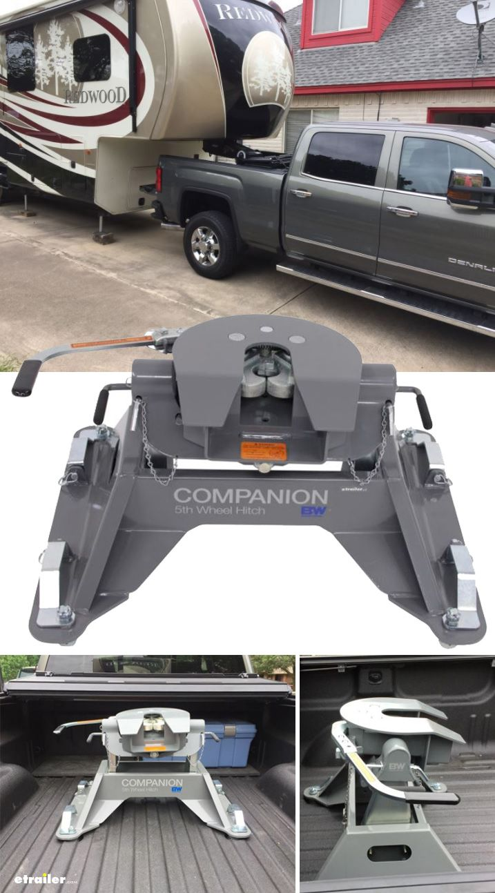 Check out the B&W Companion Dual Jaw OEM Fifth Wheel Hitch for the Chevy and GMC towing prep ...
