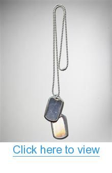Silver $ Matte Black Double Dog Tag Necklace #Silver # #Matte #Black #Double #Dog #Tag #Necklace