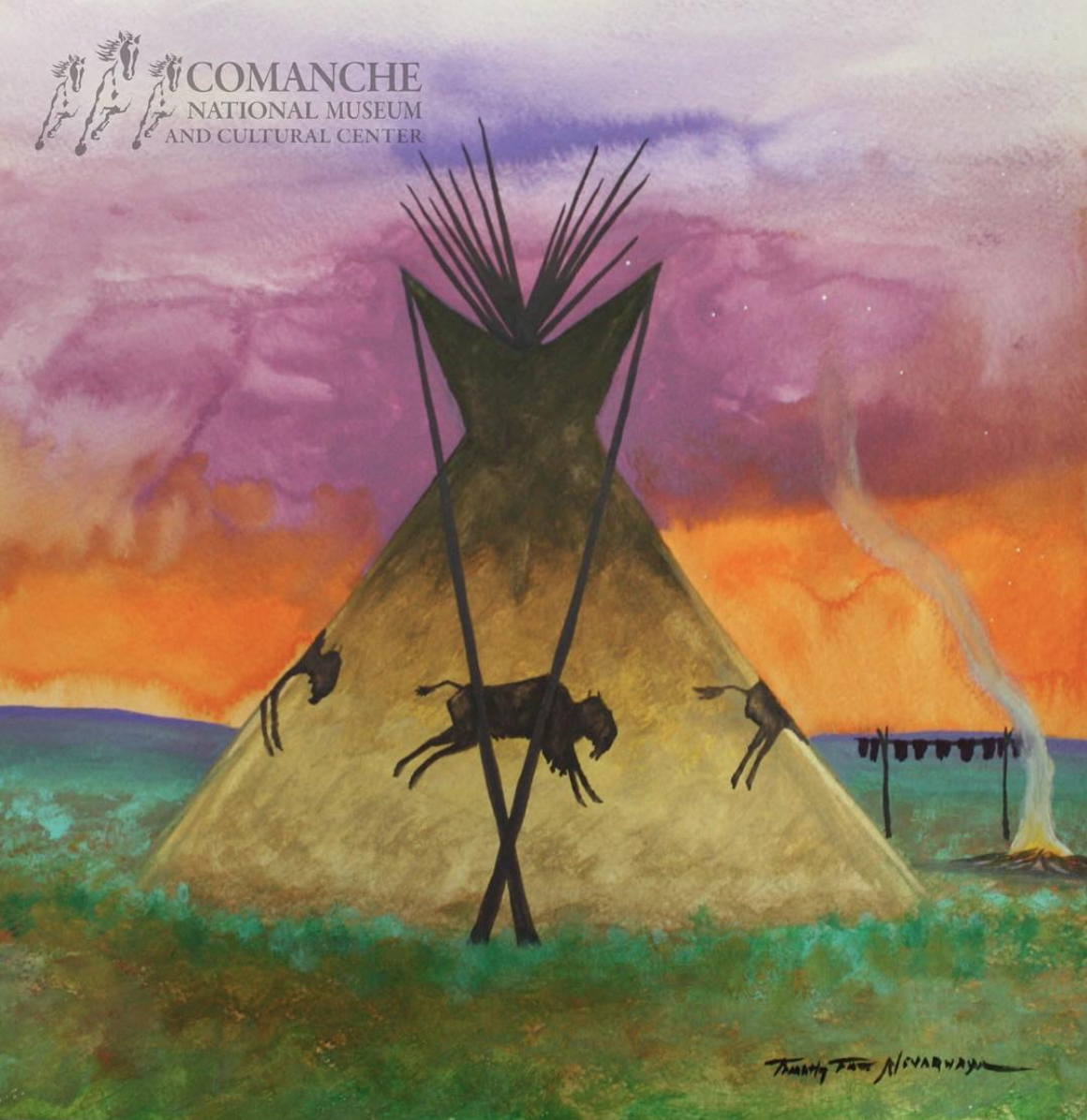 Comanche Art Spotlight: Timothy Tate Nevaquaya CNMCC
