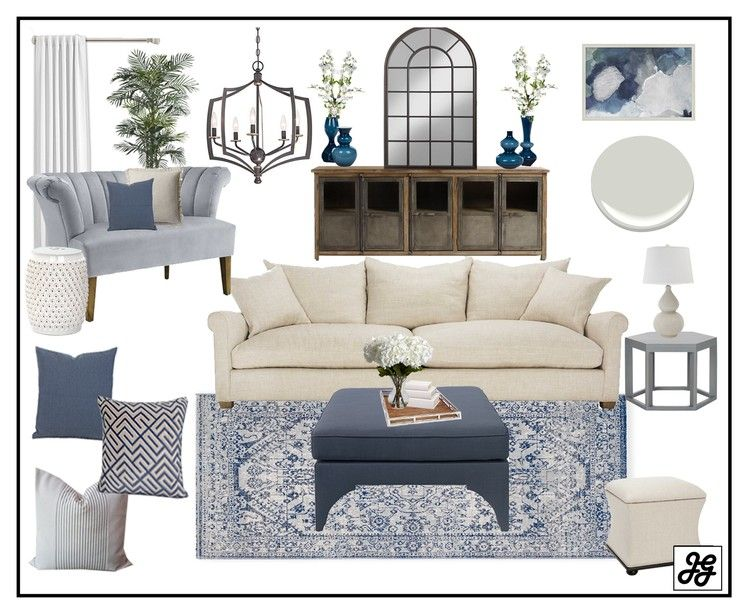 Mood Board Traditional Living Room Blue Neutral Pop Of Color Rustic Elegant Grays Traditional Living Room Farm House Living Room Interior Design Bedroom #traditional #living #room #images