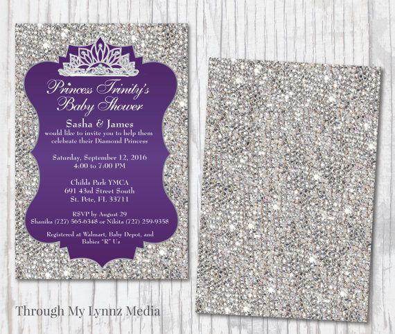 Bling baby shower invitations diamond royalty princess baby shower baby shower themes visit filmwisefo