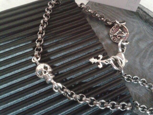 bracciale teschio argento