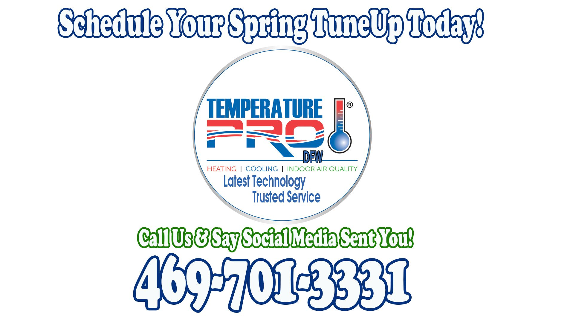 It S Spring Tuneup Time From Temperaturepro Dfw Call Ceo Tim