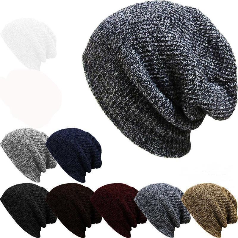 beedc43261a 1pcsBrand Bonnet Beanies Knitted Winter Hat Caps Skullies Winter Hats For  Women Men Beanie Cap Beanies Cap Gorro Invierno Hombre