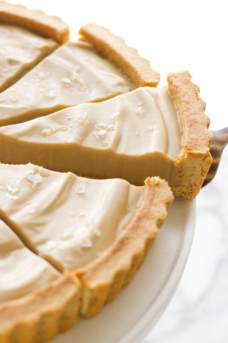 The Best Vegan Salted Caramel Tart - Amy Le Creati