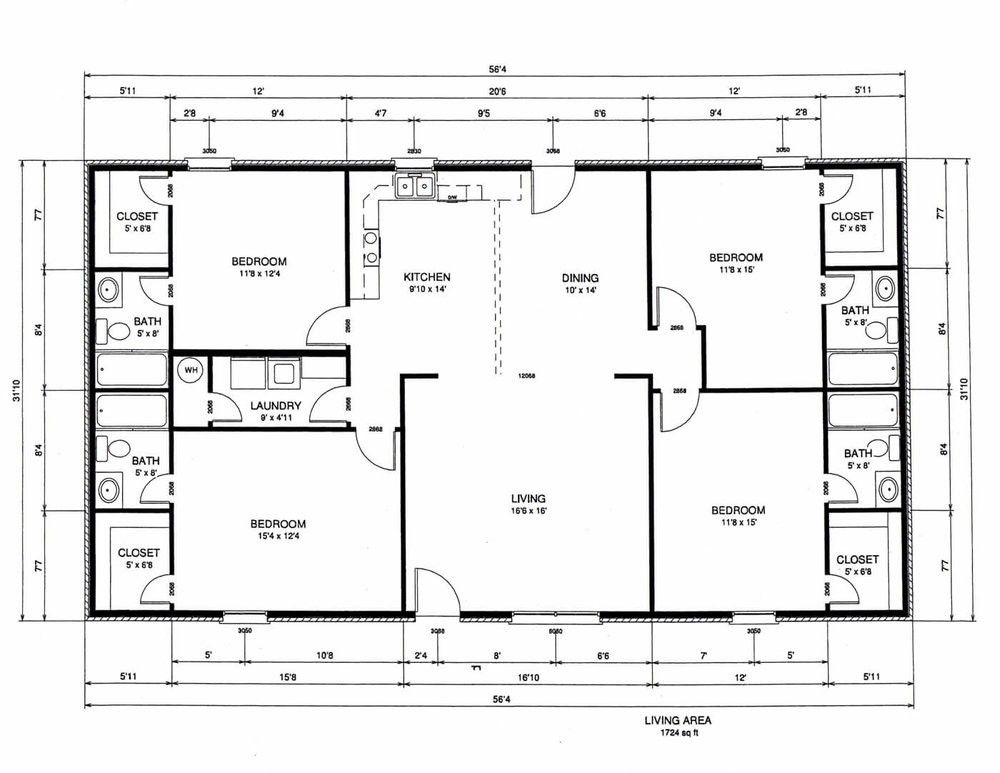 Rectangle House Plans 4 Bedroom Rectangular Hcgdietdrops Co Rectangle House Plans Bedroom Floor Plans Two Story House Plans