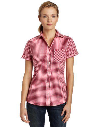 20b67dca45c Amazon.com: Carhartt Women's Short Sleeve Gingham Shirt: Clothing ...