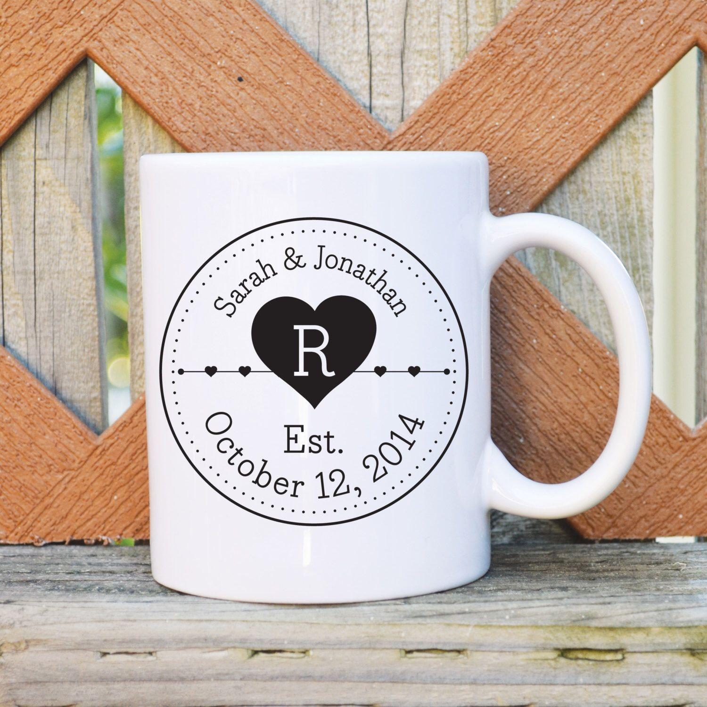 Custom Name & Date Wedding Mug - Ceramic Coffee Mug - Wedding mug ...