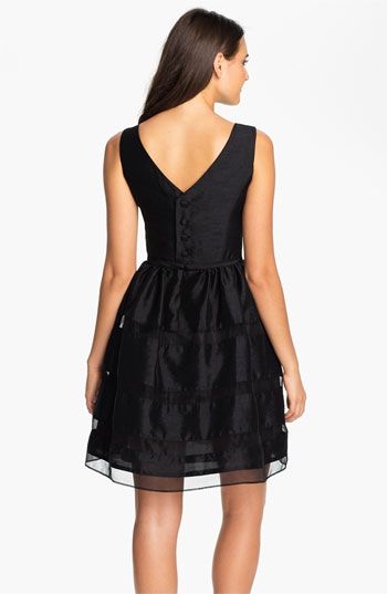 Taylor Dresses Tonal Stripe Fit Amp Flare Dress Regular