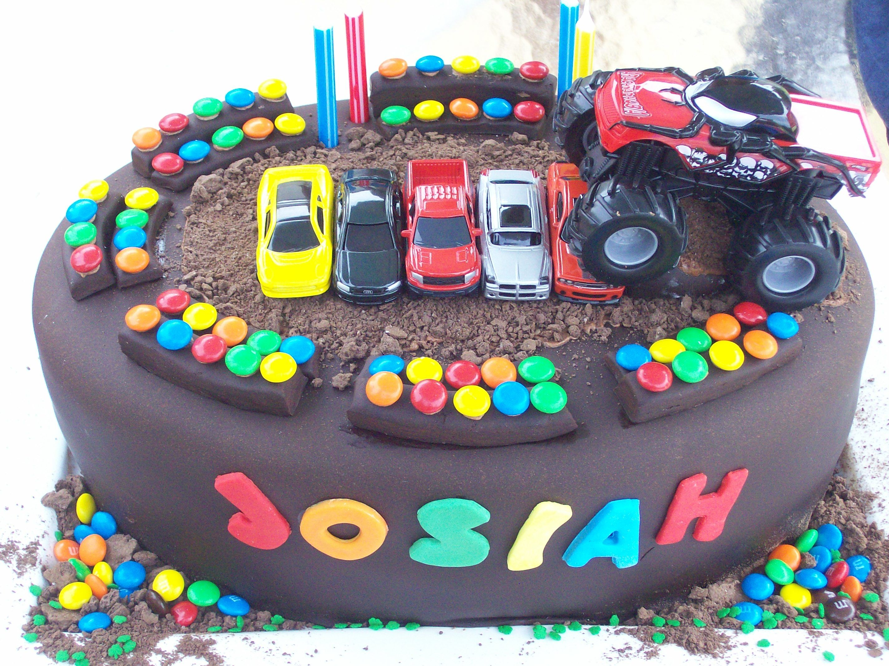 Best Monster Truck Cakes Ideas On Pinterest Monster Truck - Colorful diy kids cakes